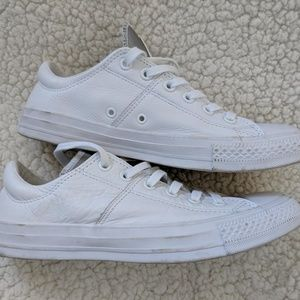 White Leather Converse All-Stars Women's 9